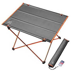 Terra Hiker Camping Table, Folding Picnic Table, Hiking Table with Strong Aluminum Frame for Outdoor, Assemble in 30s
