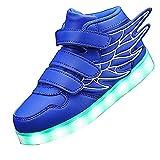 KARKEIN LED Light Up Hi-Top Wings Shoes USB