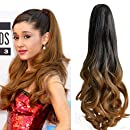 """Neverland Beauty 20""""(50cm) Ombre Two Tone Long Big Wavy Claw Curly Ponytail Clip in Hair Extensions 1B#/27#"""