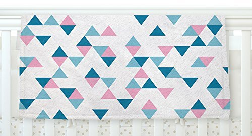 KESS InHouse Project M Triangles Pink Blush Blue Fleece Baby Blanket 40 x 30 [並行輸入品]   B077ZLF4G3