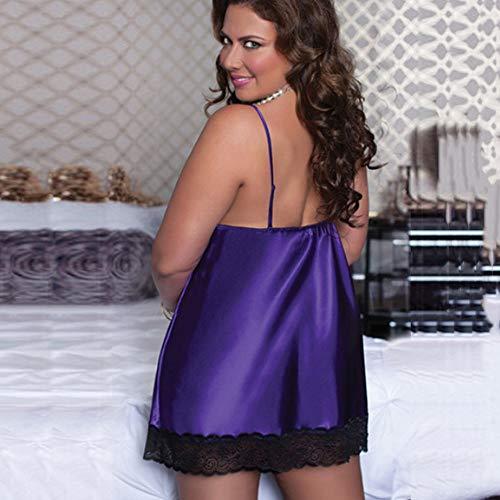 Taille Dentelle Fourreau Erotique Dessous Ouverte Coquin Femme Lingerie Sexy Pans Angelof Violet Coquine Grande Nuisette 0SHFIqA