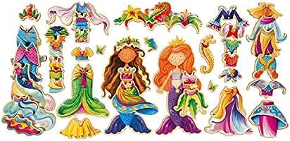 Shure Daisy Girls Mermaids Wooden Magnetic Dress-Up Dolls 9769 T S