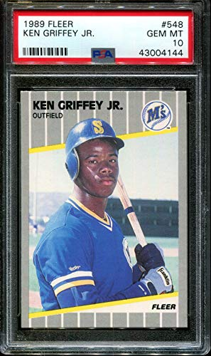 1989 FLEER #548 KEN GRIFFEY JR. RC HOF PSA 10 B1717201-487
