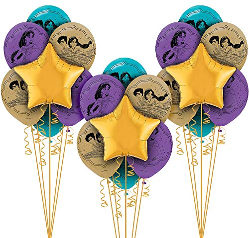 Party City Aladdin Balloon Party Supplies, 11 Pieces, Includes Foil Balloons, Latex Balloons, and Ribbon -
