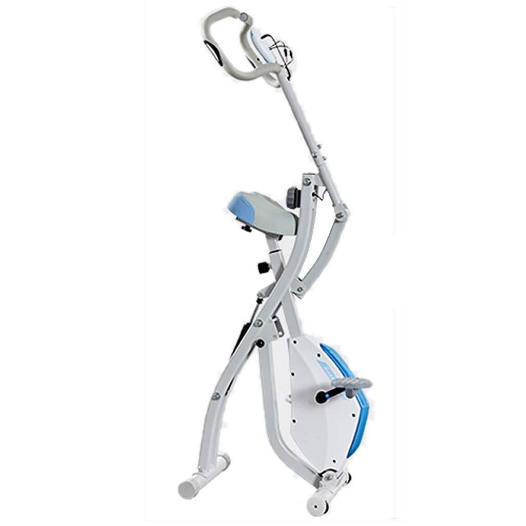 フィットネスバイク 減量のペダルのスポーツのバイク 家の適性装置 家の折りたたみのバイク 家の運動装置 (Color : 白, Size : 100x55x136cm) 100x55x136cm 白 B07NW8K5D8
