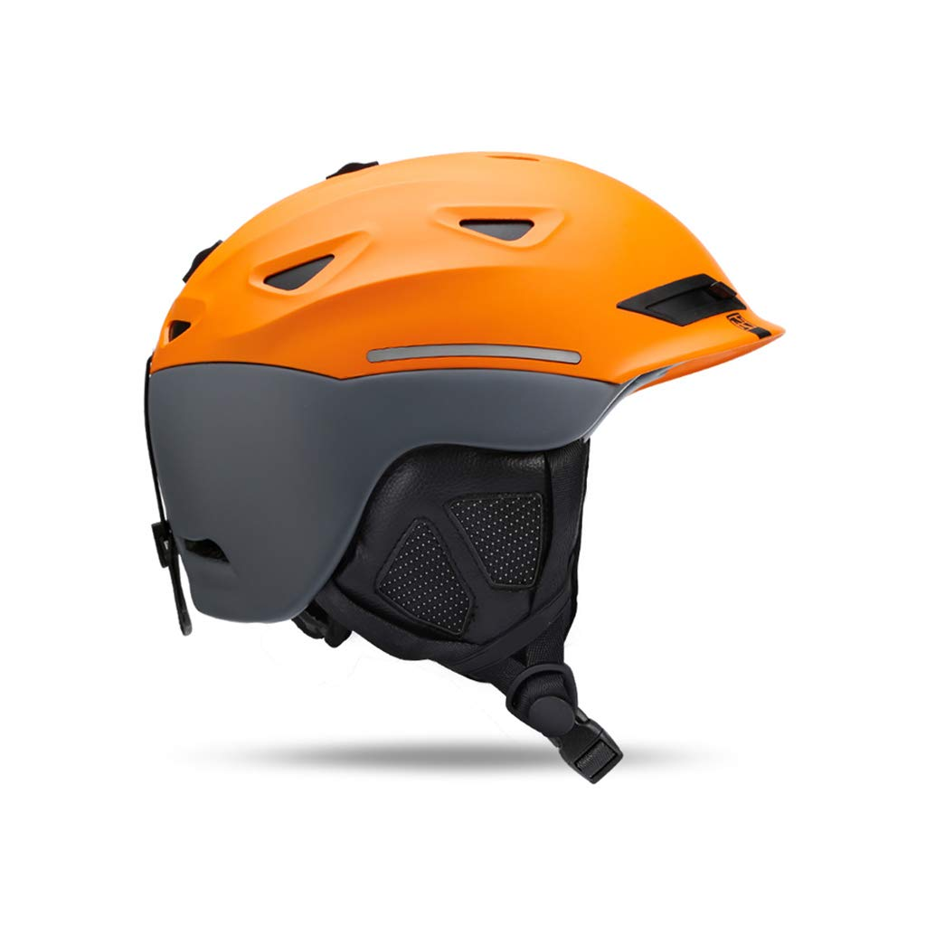 Mooloヘルメットスキー&スノーボード用ヘルメット、スキー用保護安全帽スケートボードスケート用ヘルメット調整可能ヘッドバンド(カラー:オレンジ、サイズ:L) B07PVP3Y4B