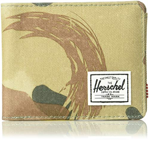 Herschel Supply Co. Men's Roy + Coin RFID, Brushstroke camo, One Size