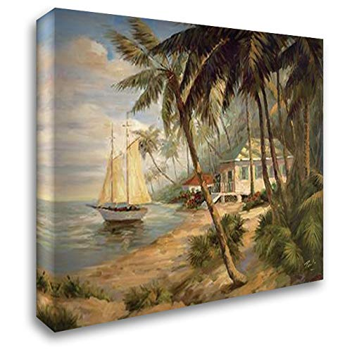 Bolo Key West Hideaway - Key West Hideaway 36x28 Gallery Wrapped Stretched Canvas Art by Bolo