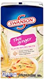 Let Swanson Thai Ginger Flavor-Infused Broth be the showstopping ingredient of your Asian-inspired soups, sides and other inventive recipes. Layered with the authentic Thai flavors and spices of lime, soy sauce, coconut, lemongrass, cilantro ...