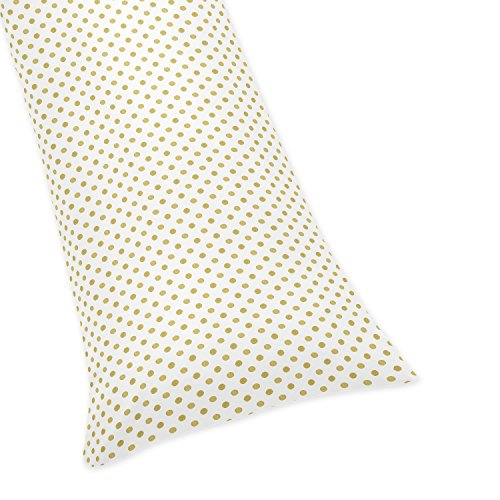 Sweet JoJo Designs Gold Polka Dot Full Length Double Zippere