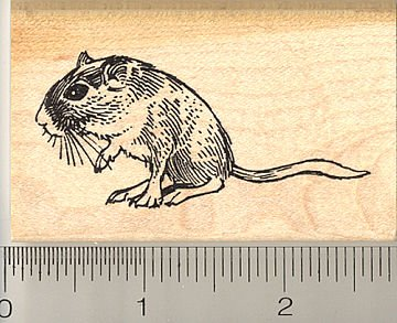 Gerbil Rubber Stamp