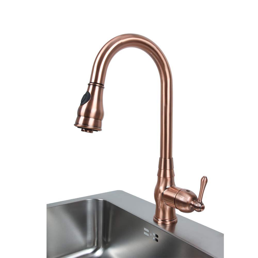 Amazon.com: Grifo de cocina de cobre antiguo con un solo ...
