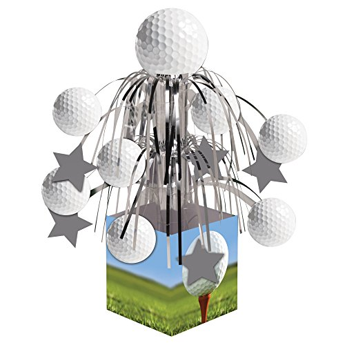 Creative Sports Themed Costumes (Creative Converting Sports Fanatic, Golf Centerpiece with Mini Cascade and Base, White)