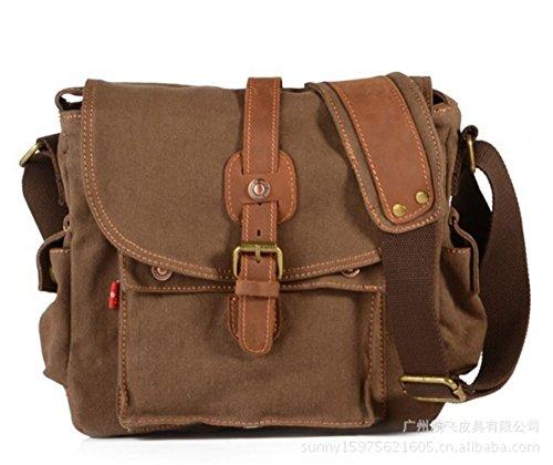SILI Leather Canvas Shoulder Bag Messenger Bags Crossbody Bag Satchel Bag  Sports Bag School Bag Coffee - Buy Online in UAE.  f908e6ea45267