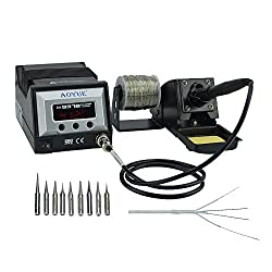 Aoyue 9378 60 Watt Programmable Digital Soldering Station - ESD Safe, includes 10 tips, C/F switchable, Configurable Iron Holder, Spare Heating Element,100-130V Review