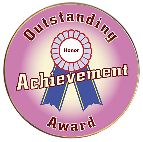 Keepers Outstanding Achievement Award, 2 inch dia Gold Pin