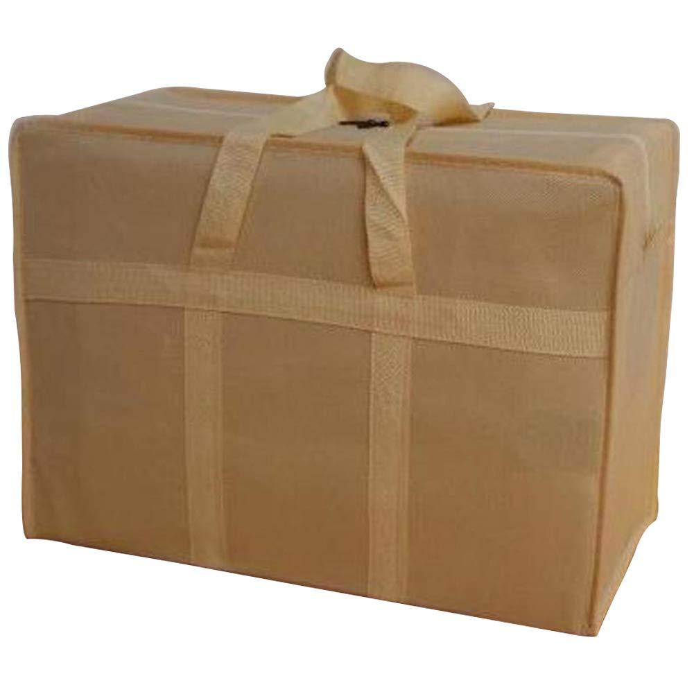 Impermeable Bolsa De Almacenamiento Grande asas De Transporte Y Cremallera,bolso Organizador Reutilizable Para Manipular Art/ículos Grandes-a 70x50x30cm