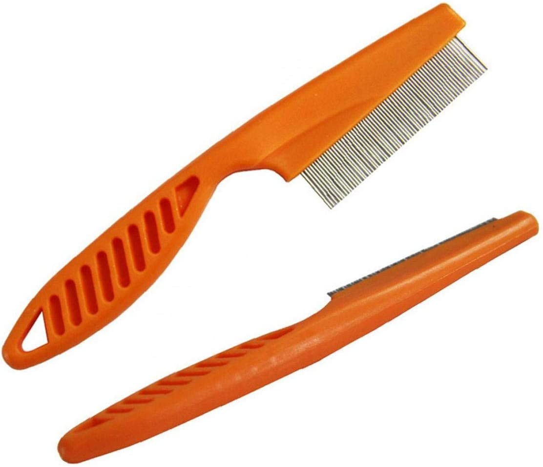 TrifyCore Pet Comb with Stainless Steel Teeth Dog Hair Cleaning Slicker Brush Massage Comb Shedding Grooming Tools 4pcs 14.5 3.4 1cm