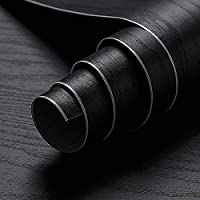 Oxdigi Black Wood Grain Contact Paper 24 x 196 inches Decorative for Shelf Liners Cabinets Shelves Doors Self Adhesive…