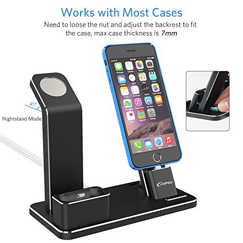 YoFeW Apple iWatch Stand Aluminum 4 in 1 Apple Watch