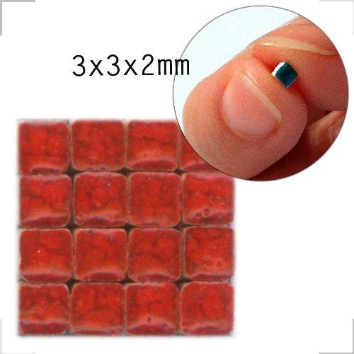 Mini-Mosaicos (3x3x2mm), 500 teselas, Rojo Selenio, WR01