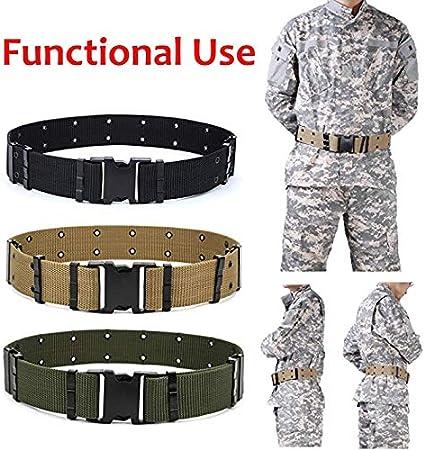 estudiante entrenamiento militar JBINNG Cintur/ón t/áctico ajustable de nailon militar para deportes al aire libre y caza