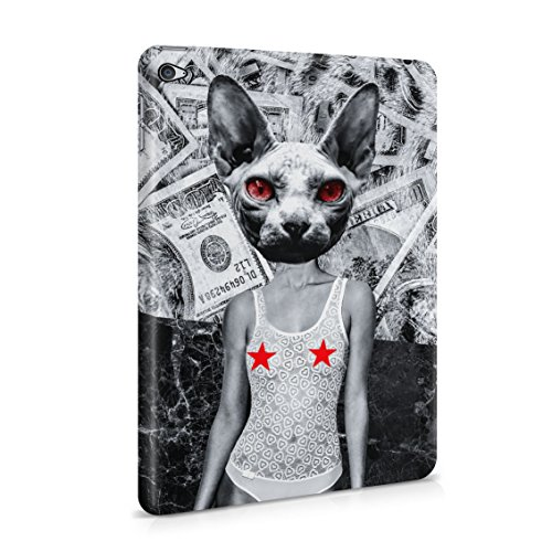 Nude Sphynx Head Girl Money Marble Pattern Plastic Tablet Snap On Back Case Cover Shell For iPad Mini (Perfect Nude Chicks)