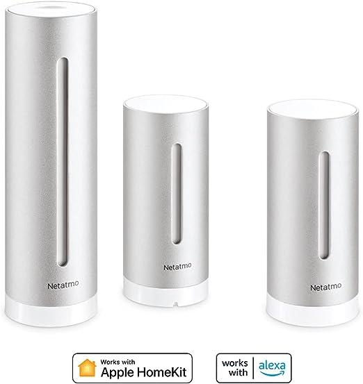 Bruit NWA01-WW CO2 Rose /& An/émom/ètre connect/é sans-fil pour la Station M/ét/éo Netatmo Humidit/é Temp/érature Netatmo Capteur de qualit/é de lair int/érieur Connect/é