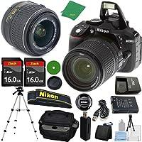 ZeeTech Ultimate Bundle for D5300 24.2 MP DSLR, NIKKOR 18-55mm f/3.5-5.6 Auto Focus-S DX VR, 2pcs 16GB ZeeTech Memory, Camera Case