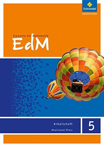 Elemente der Mathematik SI - Ausgabe 2016 für Rheinland-Pfalz: Arbeitsheft 5