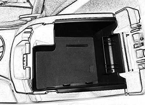 Car Center Console Tray Armrest Secondary Storage Box Glove Pallet for 13-16 Ford Escape by kongka(Not Fit for 2017 Ford Escape) Ford Escape Part