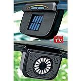 willsbury Solar Powered Car Window Cool Air Vent Auto Fan - Black