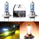 cciyu H7 4500K High Performance Super White Xenon HID Halogen Headlight Bulbs for Low Beam (Pack of 2pcs)