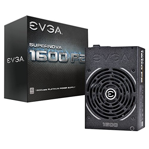 - EVGA Supernova 1600 P2 80+ Platinum, 1600W ECO Mode Fully Modular NVIDIA SLI and Crossfire Ready 10 Year Warranty Power Supply 220-P2-1600-X1