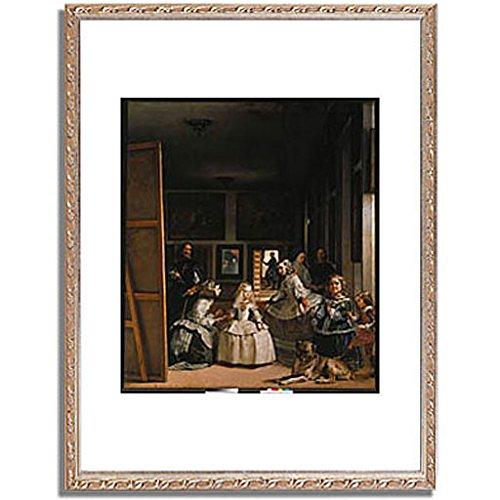 ベラスケス「ラスメニーナス Las Meninas (The courtladies). 」 インテリア アート 絵画 プリント 額装作品 フレーム:装飾(銀) サイズ:S (221mm X 272mm) B00NKRE9XY 1.S (221mm X 272mm)|5.フレーム:装飾(銀) 5.フレーム:装飾(銀) 1.S (221mm X 272mm)