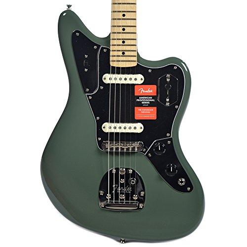 (Fender American Pro Jaguar MN Antique Olive w/Black Pickguard)