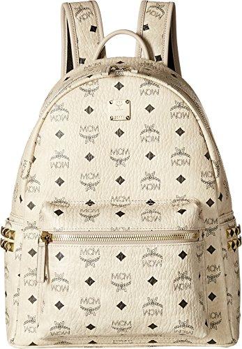 MCM Unisex Stark Side-Stud Small Medium Backpack Beige One Size
