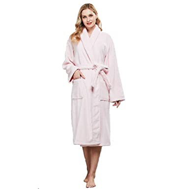 941842edebae1 beryris Luxury Bathrobe for Women - Women s Terry Cloth Robe in Bamboo  Viscose