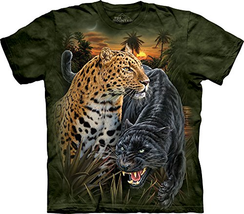 the-mountain-mens-two-jaguars-t-shirt-green-medium