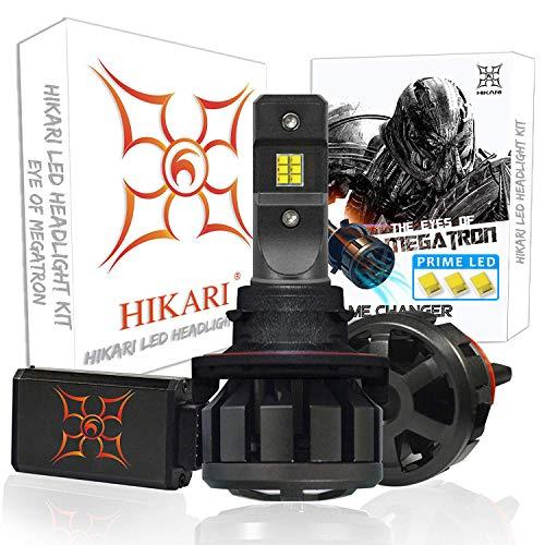 HIKARI Ultra LED Headlight Bulbs Conversion Kit -H13/9008, Prime LED 12000lm 6K Cool White,2 Yr Warranty