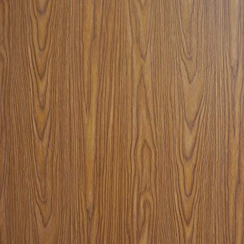Brown Wood Contact Paper Wood Wallpaper Self Adhesive Wood Peel and Stick Wallpaper Wood Grain Contact Paper Removable Wallpaper Wood Texture Wall Covering Shelf Drawer Liner Faux Vinyl 17.7