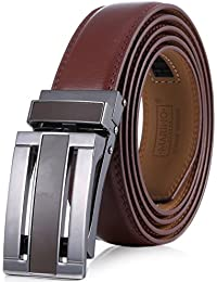 Men's Genuine Leather Ratchet Dress Belt with Linxx Buckle, Enclosed in an Elegant Gift Box