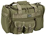 Mens 18″ Inch Tan Duffel Duffle Molle Tactical Carry On Shoulder Bag + Key Ring Carabiner Review