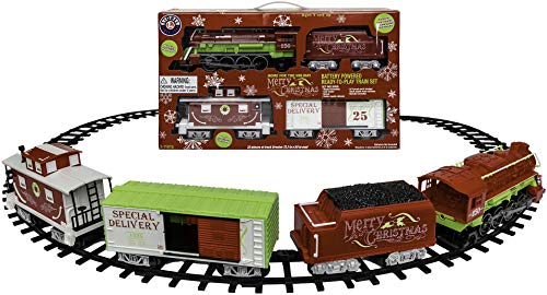 Christmas Tree Trains Sets (Lionel Home For The Holiday Battery-powered Model Train Set Ready to Play w/)
