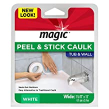 "Magic American 3016 Tub/Wall Peel & Stick Caulk, White, 1-5/8"" x 11'"