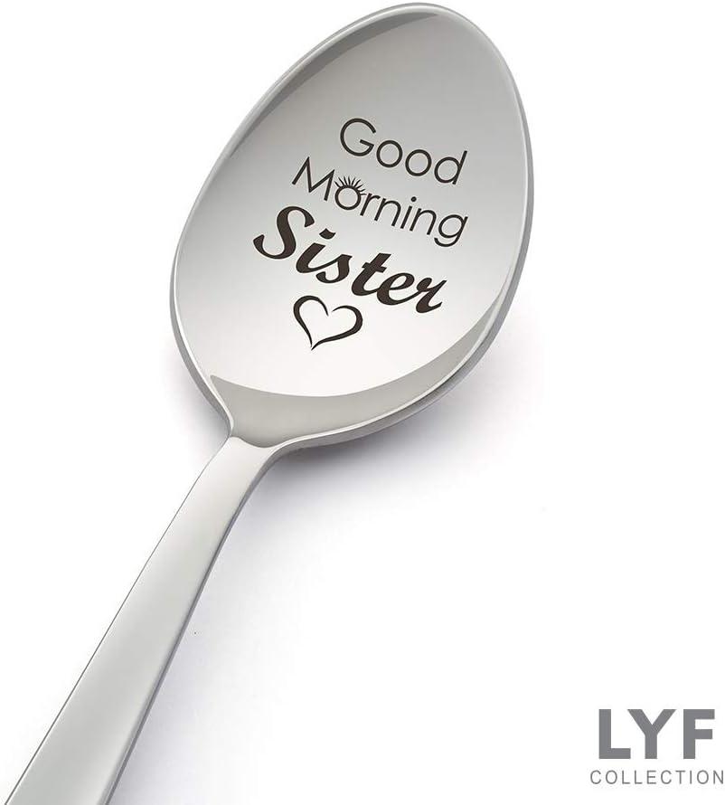 Good Morning Sister Cuchara grabada para regalo de hermana, hermana, cuñada, regalo de cumpleaños, hermana, regalo de boda, hermana, idea de regalo