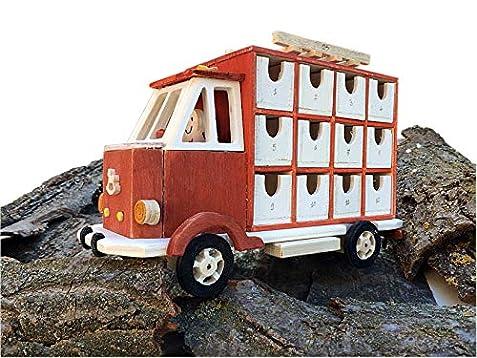 Il Calendario Di Natale Trailer.Calendario Dell Avvento Camion In Legno Calendario Di