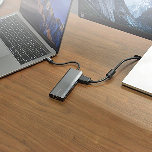 mbeat USB-C Hub (USB Type C) Docking Station, supports MacBook Pro, 60W power pass through, 4K HDMI, Ethernet(RJ45), 2 x USB 3.1 Type-A ports, USB-C port, SD memory Card Reader (Space Grey) by mbeat (Image #5)
