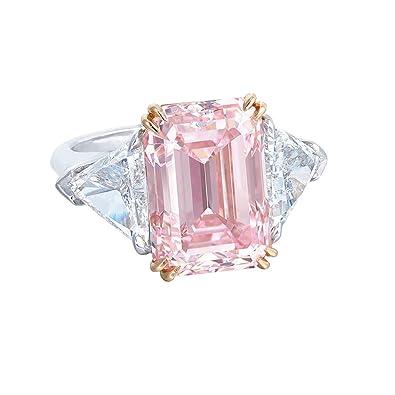 Pink Diamond Ring >> Women Rings Sale Exquisite Pink Diamond Geometric Round
