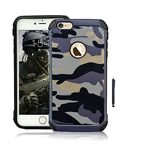 Cooper Dual Cover - Iphone 5S Case,Cooper GTV [2 in 1][Dual Layer Defender] Plastic+Soft [Ultra Thin] TPU Hybrid Hard [Army Camo Camouflage] Design Hard Shockproof Case Cover For Apple Iphone 5/5S/5SE(Blue)